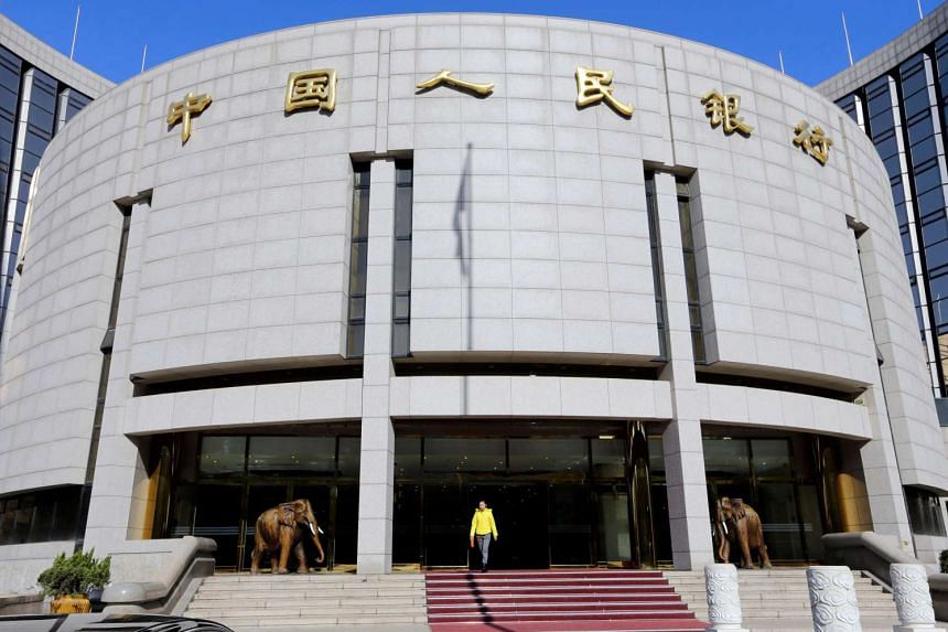 The headquarters of the People's Bank of China (PBOC), the central bank, in Beijing, China.