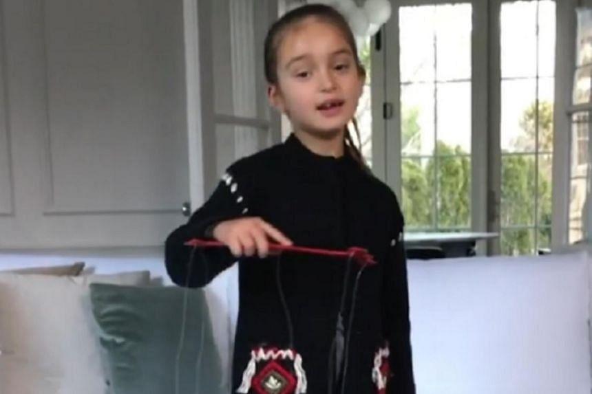 Arabella Kushner singing a Chinese New Year song.