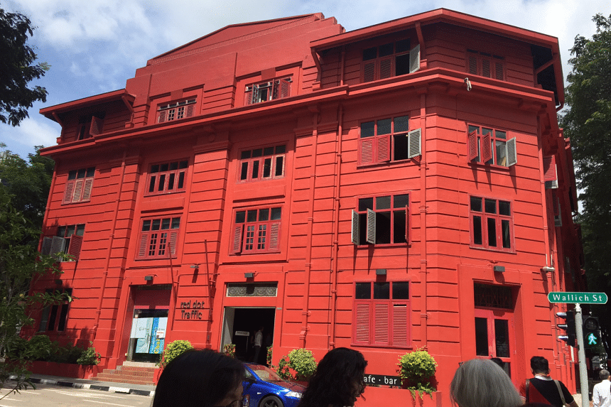 The Red Dot Traffic Building in Tanjong Pagar.