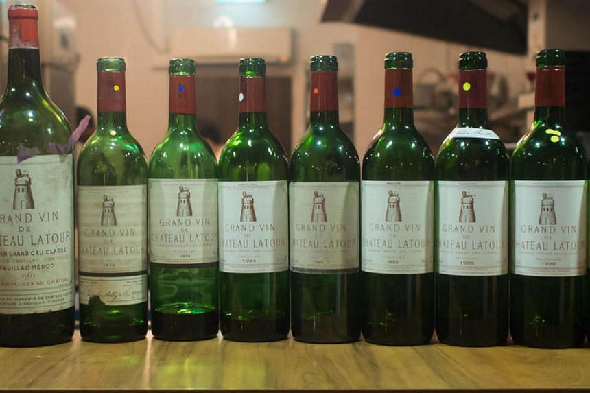 A vertical of Latour – one of the world's benchmark wines.