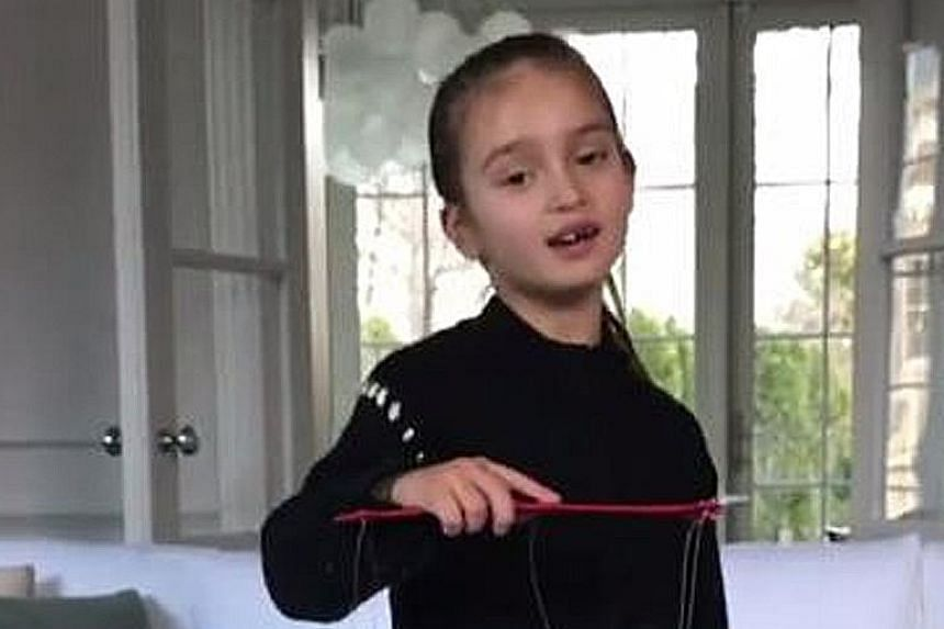 While her grandfather, US President Donald Trump, is busy with politics, five-year-old Arabella Kushner has been brushing up on her Mandarin skills, even singing a Chinese New Year song. Her mother Ivanka Trump on Thursday posted a video on Instagram