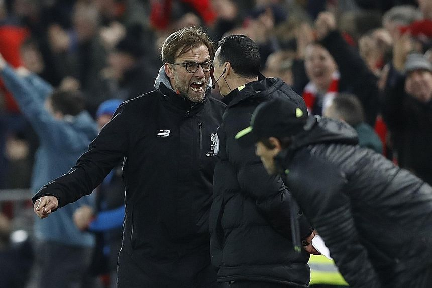 Liverpool manager Jurgen Klopp remonstrating with the fourth official during the 1-1 draw with Chelsea. He will have to keep his temper in check ahead of another pressure-filled game at Hull