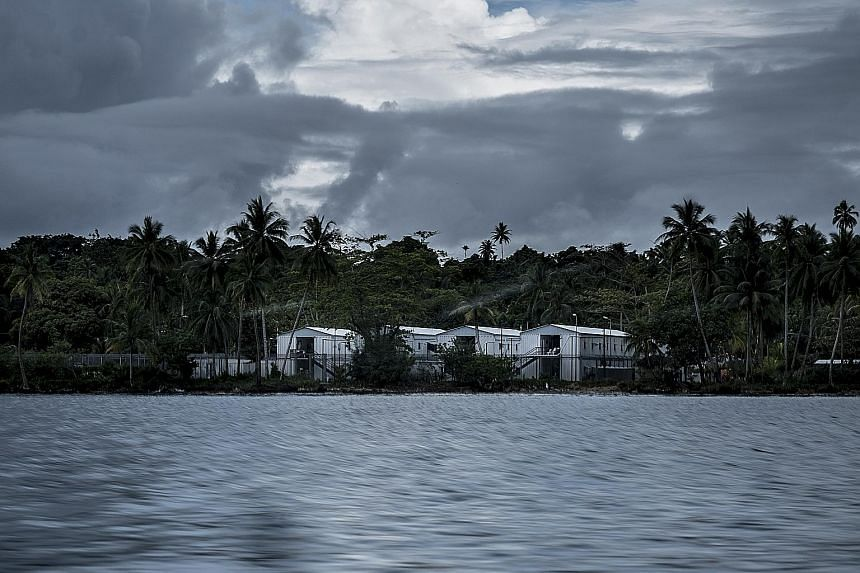 A camp processing immigrants run by Australia on Manus Island in Papua New Guinea.