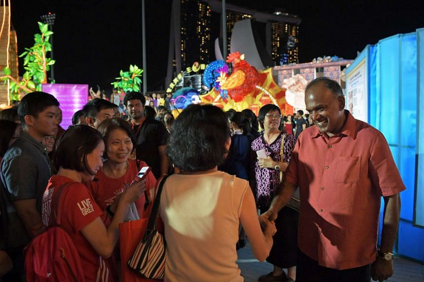 Home Affairs and Law Minister K. Shanmugam was the guest-of-honour for the final night of the River Hongbao celebrations.