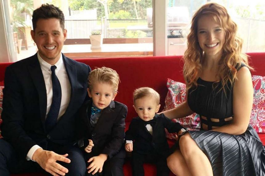 A family photo posted to Michael Buble's Instagram page.