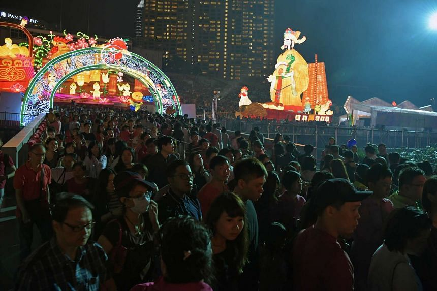 Attendees at the final night of the River Hongbao celebrations on Feb 4, 2017.