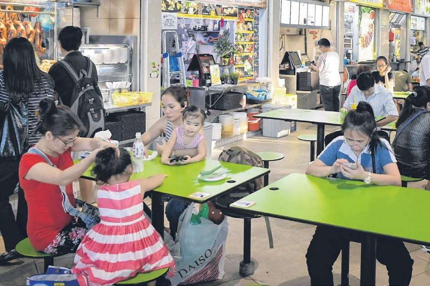 Hawker centres of the future could be quite different from this one at the Bedok bus interchange.