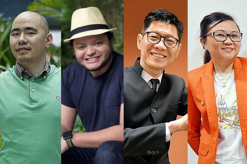 (From left) Mr Yip Beng Harng, Mr Tony Leo, Mr Ezzy Wang and Ms Calin Tan are cancer survivors.