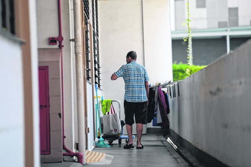 Mr Ridsdale spent almost two decades on the streets before moving into a Roman Catholic welfare home last August. The staff there helped him apply for public assistance.