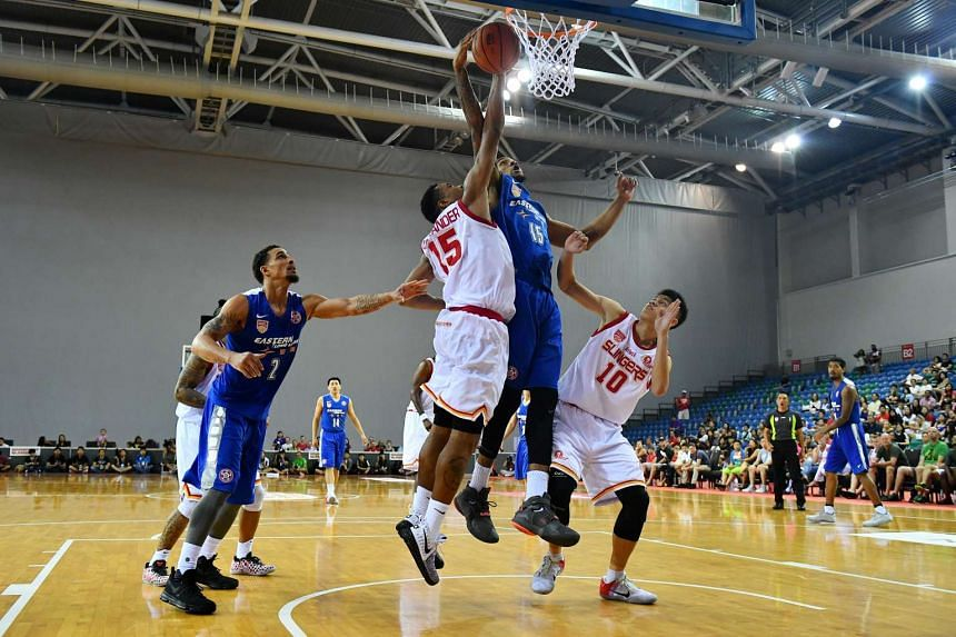 Thee Singapore Slingers slumped to a shock loss at the hands of the visiting Hong Kong Eastern Long Lions on Feb 5, 2017.