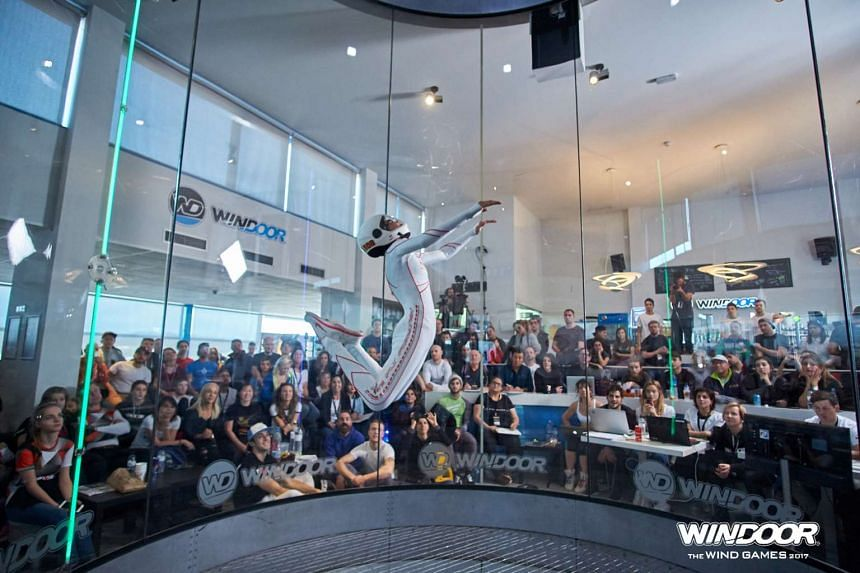 Kyra Poh performs her routine during the solo freestyle competition at the Windoor Wind Games 2017.