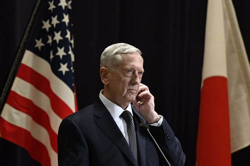 US Secretary of Defence James Mattis speaking in Tokyo on Feb 4, 2017.