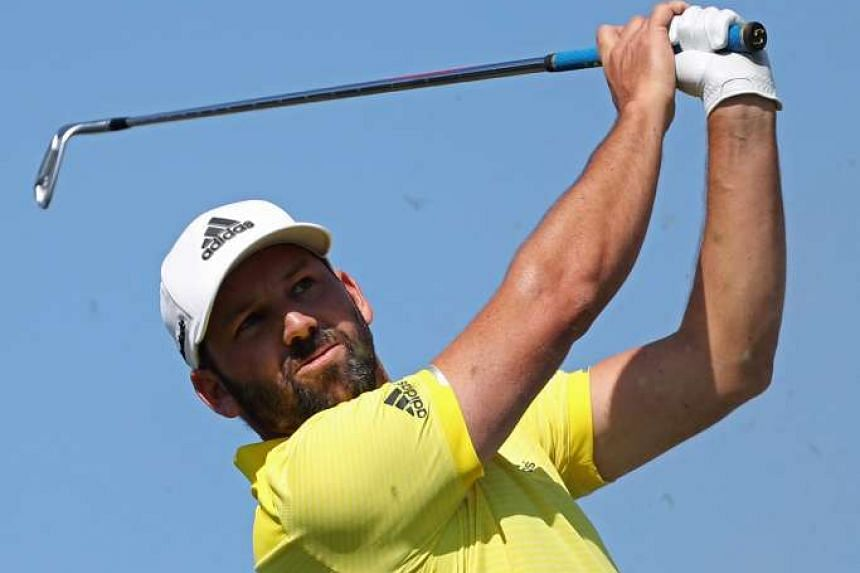 Sergio Garcia of Spain during the final round of the 2017 Omega Dubai Desert Classic on the Majlis Course at the Emirates Golf Club on Feb 5, 2017.