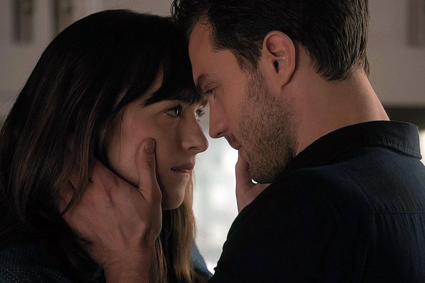 Dakota Johnson and Jamie Dornan reprise their roles as the kinky couple in Fifty Shades Darker.