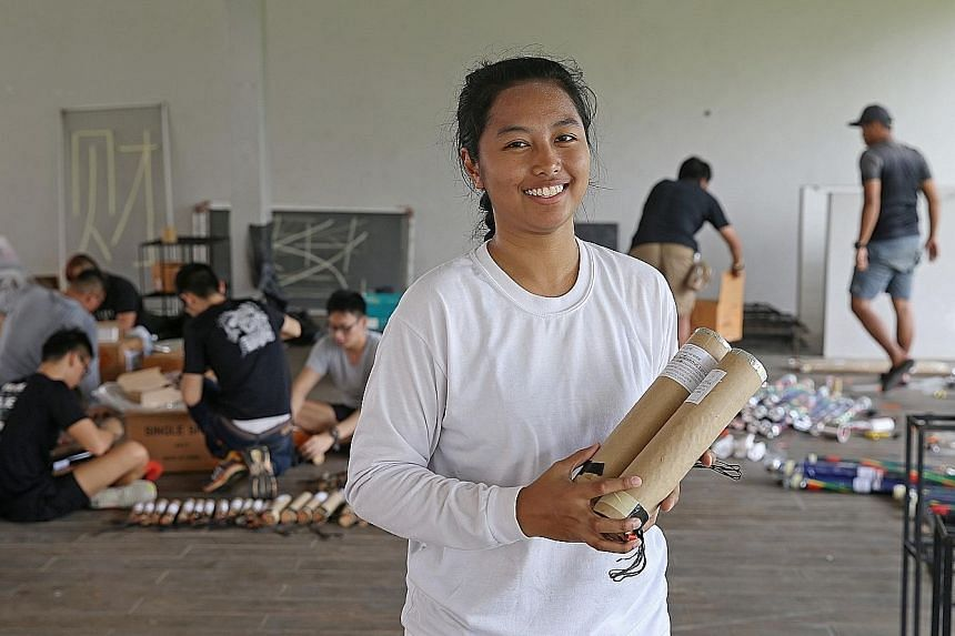 Ms Hammadah is the first female pyrotechnician, in an industry of about 60 to 70, who can plan and fire a show in Singapore.
