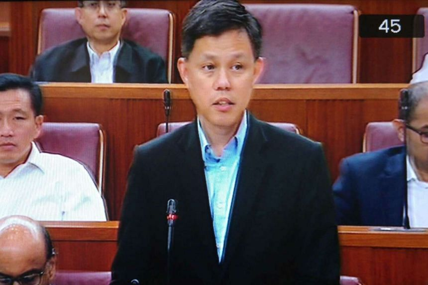 Minister in the Prime Minister's Office Chan Chun Sing in Parliament on Feb 6, 2017.