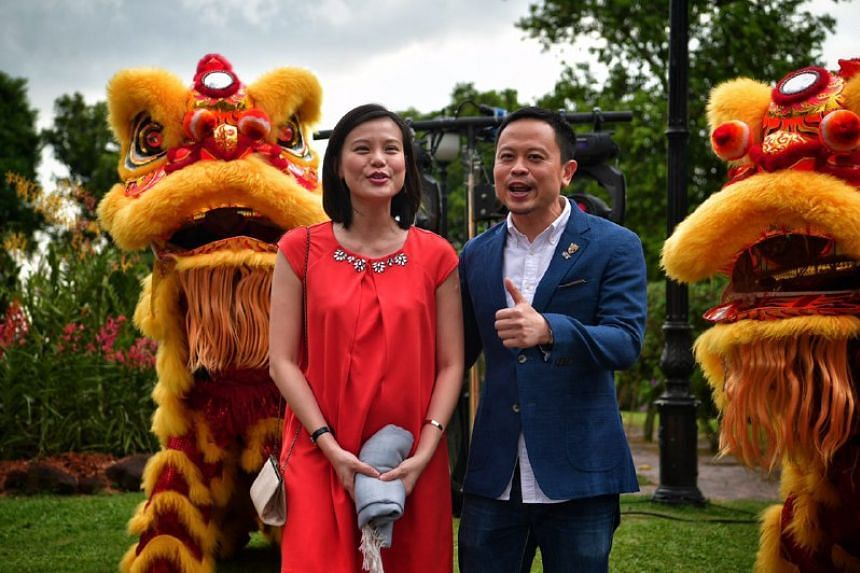 Eric Lew and his wife at the UBS Business University on Feb 6, 2017.