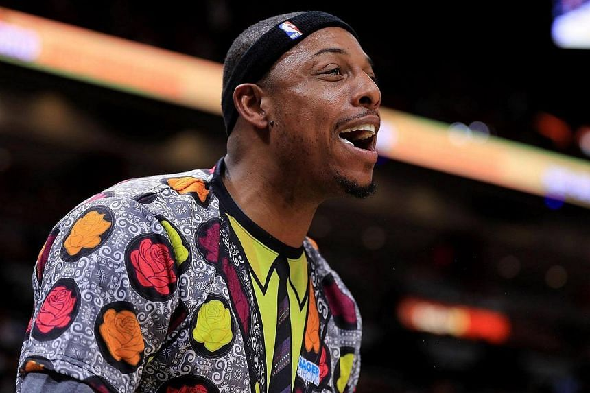 Paul Pierce made one final appearance as a player in Boston, starting and playing the first 4min 57sec.