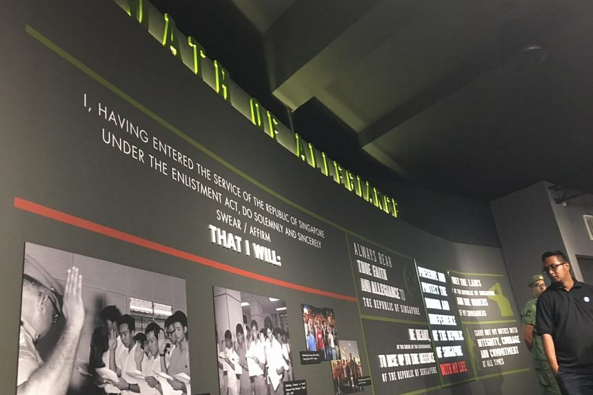 The new National Service Gallery at the Basic Military Training Centre on Pulau Tekong.