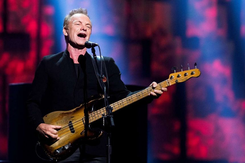 English singer Sting released the album, 57th & 9th, last year, and is on a world tour.