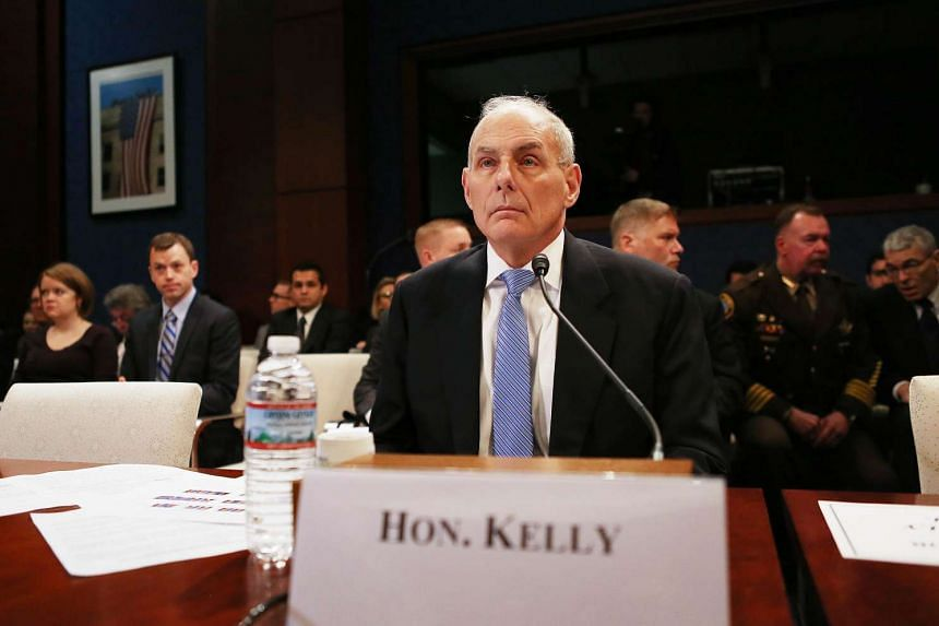Homeland Security Secretary John Kelly prepares to testify to the House Committee on Border Security on Capitol Hill in Washington, DC, on Feb 7, 2017.