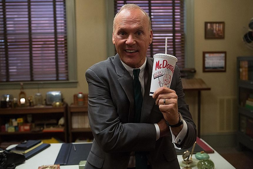 Oscar-winning actor Michael Keaton (above) plays controversial businessman Ray Kroc, who in the 1950s began franchising the innovative California burger stand started by brothers Dick and Mac McDonald, in The Founder.