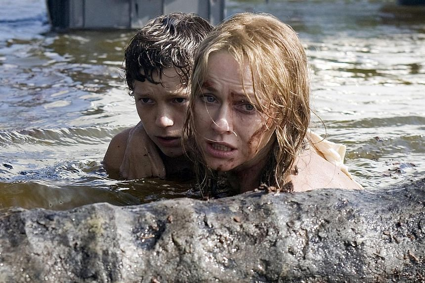 Naomi Watts, right, with Tom Holland