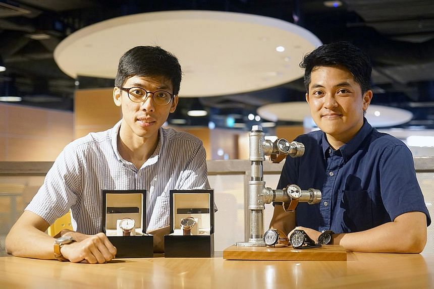 Mr Leong (left) and Mr Tan, founders of Boldr, whose Journey analogue watches are now available in retail stores from San Francisco to Paris, and its own online store.