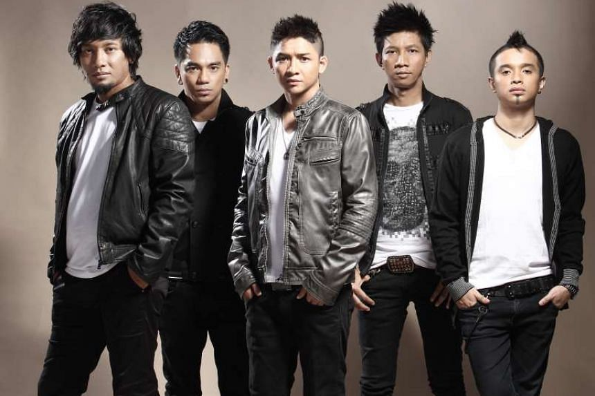 Ungu – comprising (from left) Makki, Enda, Pasha, Rowman and Onci – will perform at the Esplanade on Feb 25.