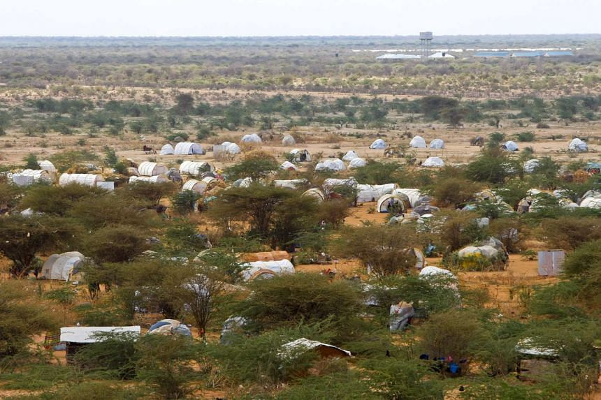 A general view of the self-settled area just outside of Dagahaley camp, one of three camps that make up the sprawling Dadaab refugee camp in northeastern Kenya is seen in this photograph from June 2011.