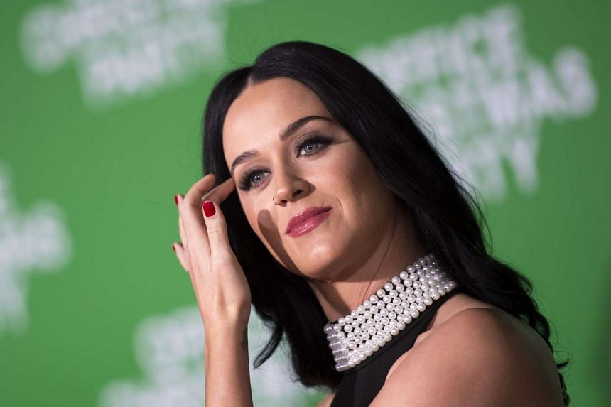 Recording artist Katy Perry at the for the premiere of Office Christmas Party at the Regency Village Theater in Los Angeles on Dec 7, 2016 .