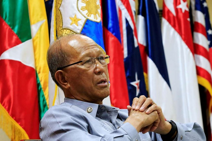 Philippine Defence Secretary Delfin Lorenzana answers questions during a Reuters interview at the military headquarters of Camp Aquinaldo in Quezon city, Philippines on Feb 9, 2017.