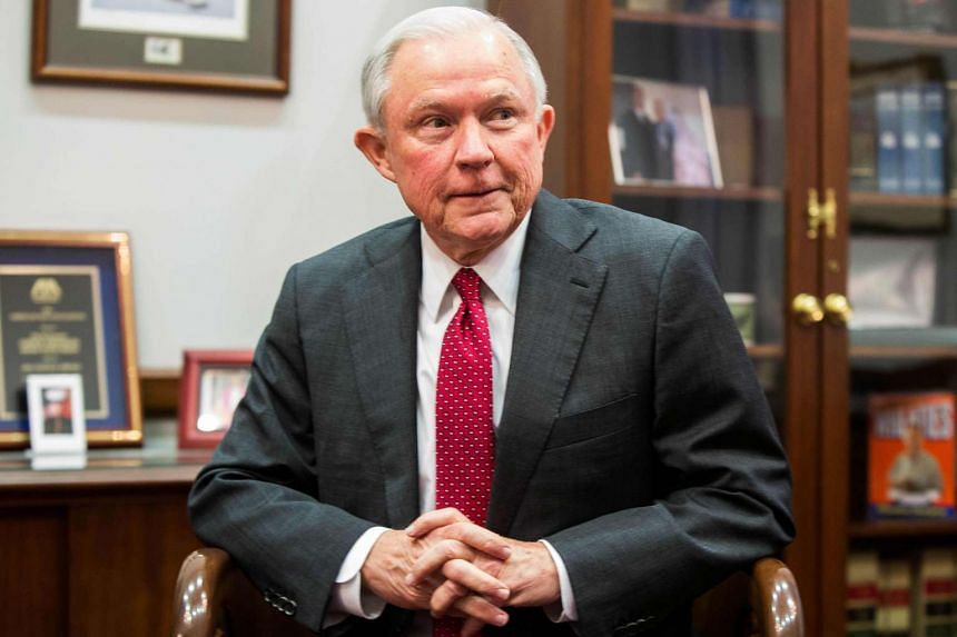 Jeff Sessions during a meeting with Sen. Chuck Grassley (not pictured) discussing Sessions's nomination for US Attorney General on Capitol Hill in Washington, DC.