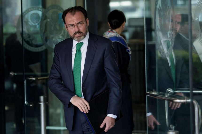 Mexican Foreign Minister Luis Videgaray Caso leaves the US Department of State after a meeting on Feb 8, 2017 in Washington, DC.