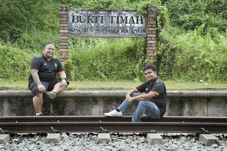 Temasek Rural Exploring Enthusiasts' Mr Faye Joseph S. Ramos (far left) and Mr Muhammad Herizzad Ruslan lead urban exploring treks in search of hidden places in Singapore.