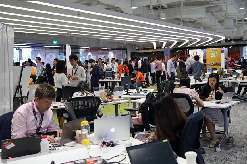 Twenty-three financial institutions opened their fintech labs and innovation centres to visitors during the FinTech Festival at Fusionopolis.