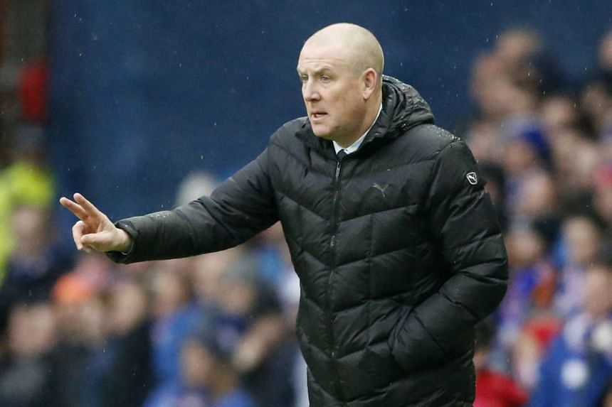 Rangers manager Mark Warburton during the Rangers v Celtic match of the Scottish Premiership in Ibrox Stadium on Dec 31, 2016.