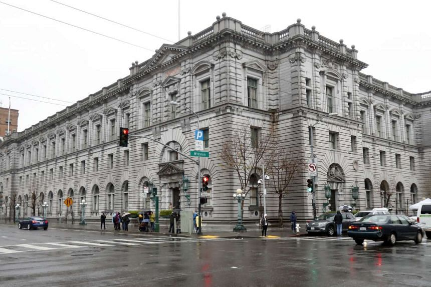 The Ninth US Circuit Court of Appeals building in San Francisco, California.