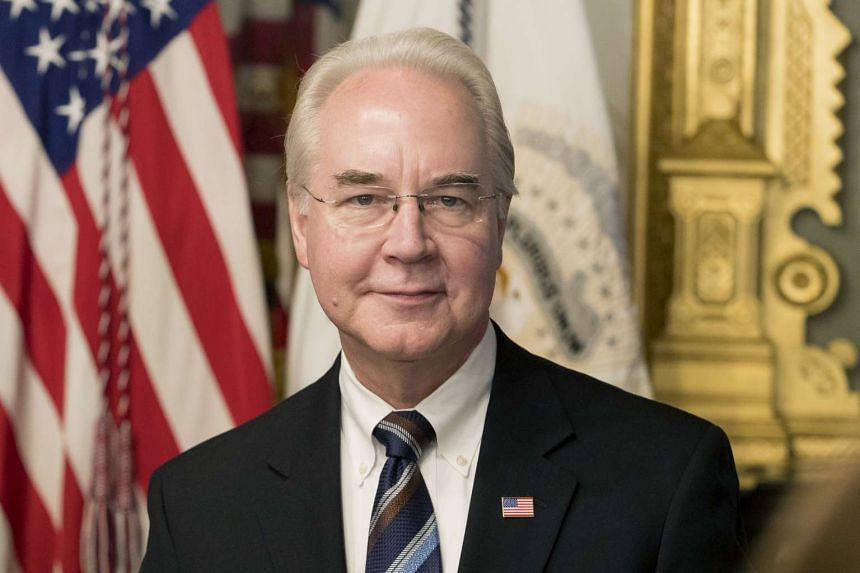 Tom Price after being sworn-in as Secretary of Health and Human Services (HHS) in the Eisenhower Executive Office Building at the White House complex in Washington, DC, USA, on Feb 10, 2017.