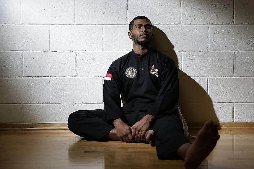 Sheik Farhan Sheik Alau'ddin overcame an injury to his left knee to win the Class J (90-95kg) final at the World Pencak Silat Championships in Bali in December last year. It was his second world title, but he said the injury could potentially have de