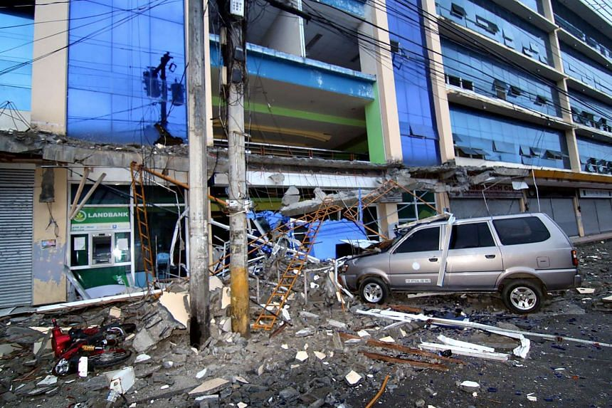 An earthquake struck the island of Mindanao in the southern Philippines late on Friday (Feb 10), damaging some structures and cutting power in many areas.