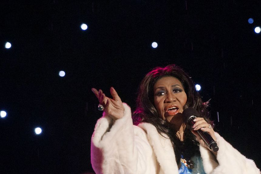 Aretha Franklin performing at the National Christmas Tree Lighting ceremony in Washington, DC, in 2013.