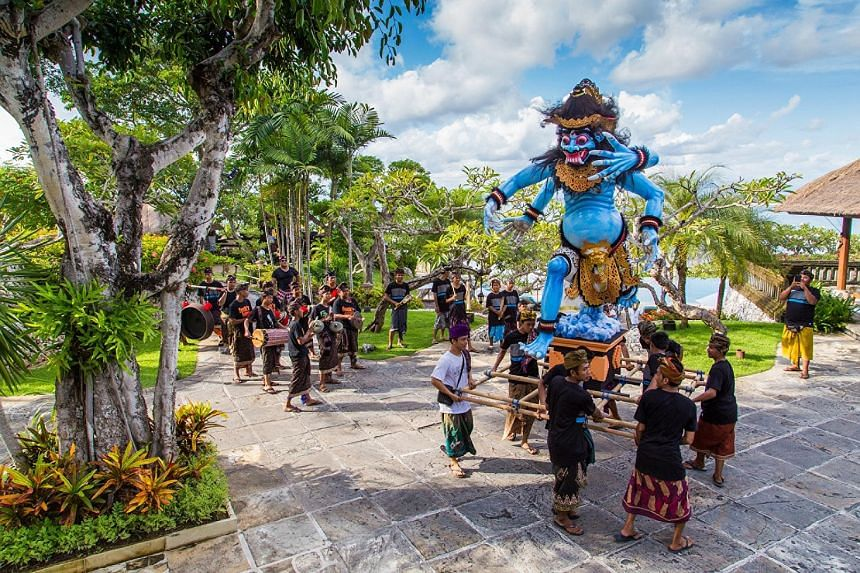 "On the eve of Nyepi, guests at Four Seasons Jimbaran Bay will get to join the traditional ""ogoh-ogoh"" parade, in which locals carry giant papier mache statues of mythological beings."