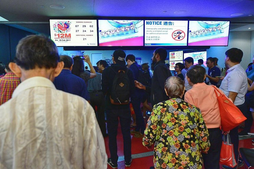 The results for the $12 million Toto Hongbao Draw.