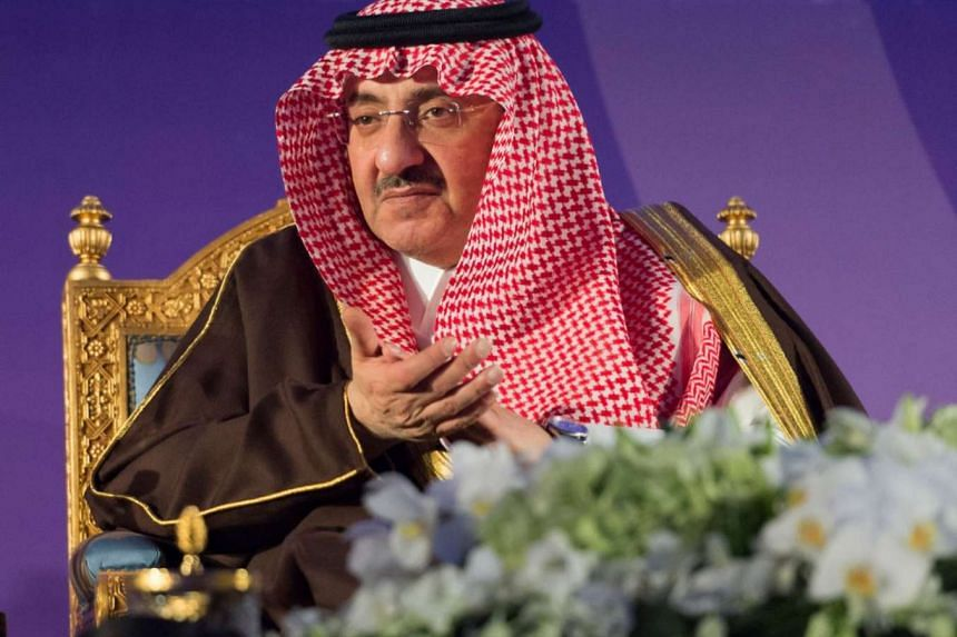 Crown Prince Mohammed bin Nayef bin Abdulaziz al-Saud attending the National Forum for the Prevention of Sexual Exploitation of Children via the Internet, held in the capital Riyadh on Nov 15, 2016.