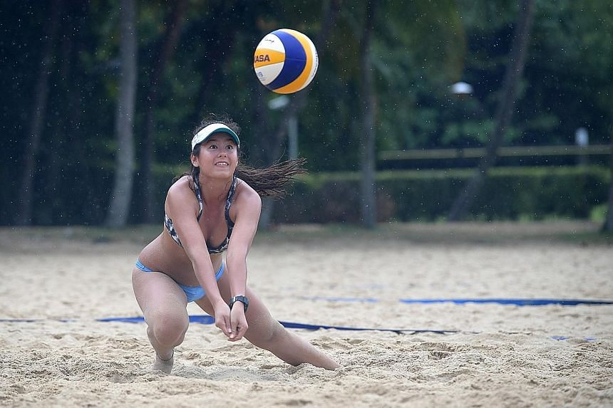 Born and raised in Singapore, Kilani Daane, 16, honed her beach volleyball talent here. The teenager, whose father is Dutch and mother is Canadian, will play in the top tier of the National Collegiate Athletic Association championships from next year