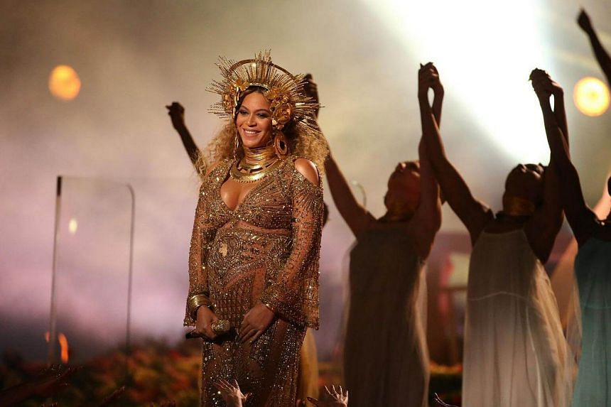 Beyonce performing at the 59th Annual Grammy Awards in Los Angeles, California, US, on Feb 12, 2017.