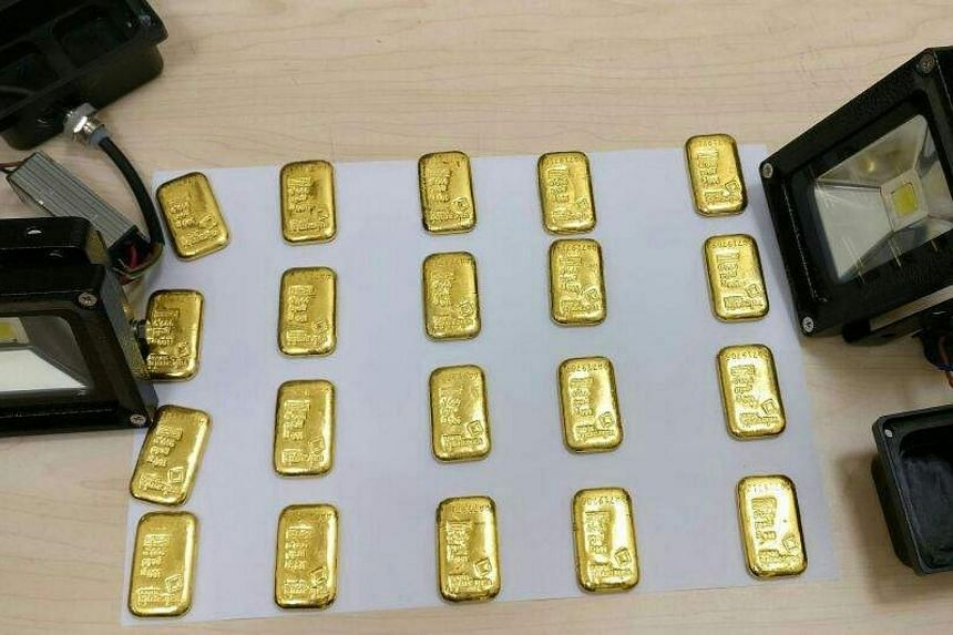A total of 20 gold bars were found in the 36-year-old's possession. Twelve bars had been hidden in his rectum.