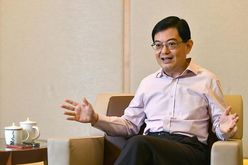 Finance Minister Heng Swee Keat at a media interview at the Ministry of Finance on Dec 13, 2016.