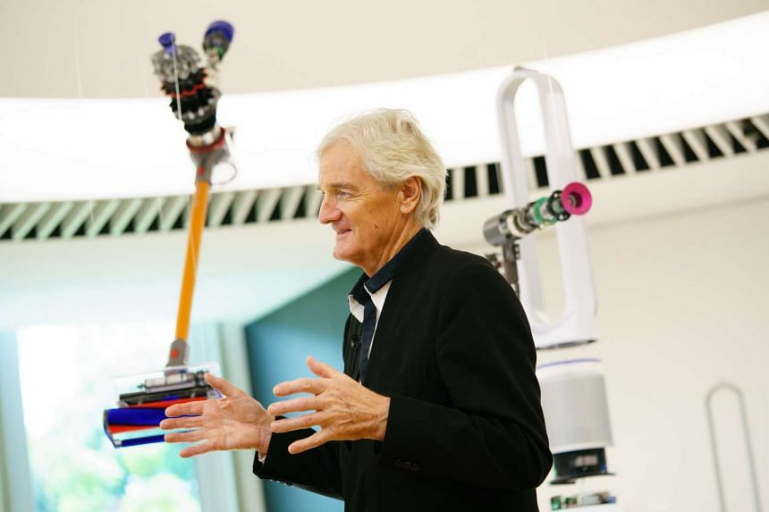Mr James Dyson, founder of British technology company Dyson, speaks at the launch of its new research and development centre in Science Park on Monday (Feb 13).